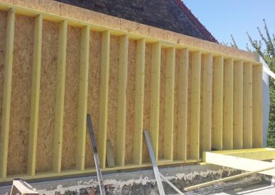 Création d'un mur ossature bois à montreuil