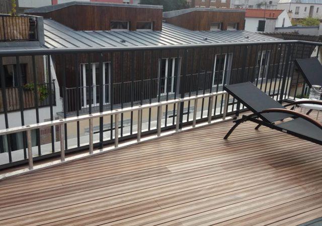 Terrasse en bois à Paris 19ème