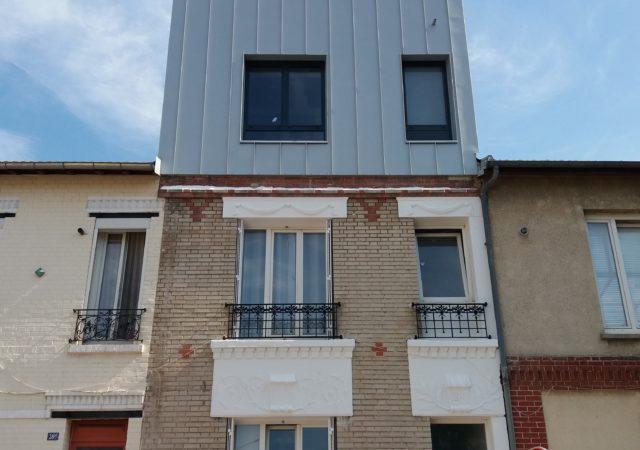 Surélévation avec terrasse accessible à Montreuil en Seine St Denis