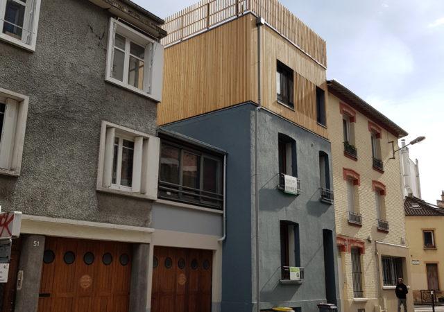 Surélévation à Montreuil en Seine St Denis